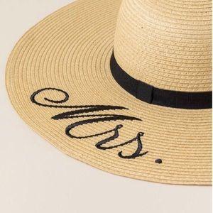 Mrs./bride Straw Hat